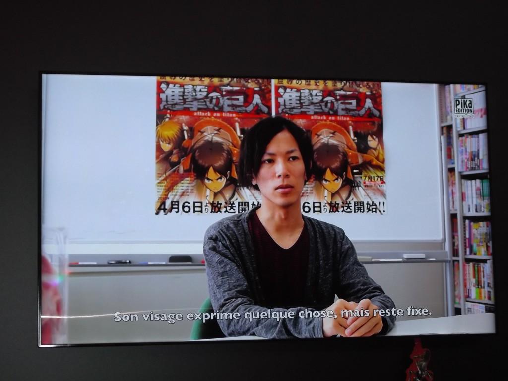 Vous pouvez aussi regarder des interviews : ici  Isayama Hajime le mangaka de L'Attaque des Titans
