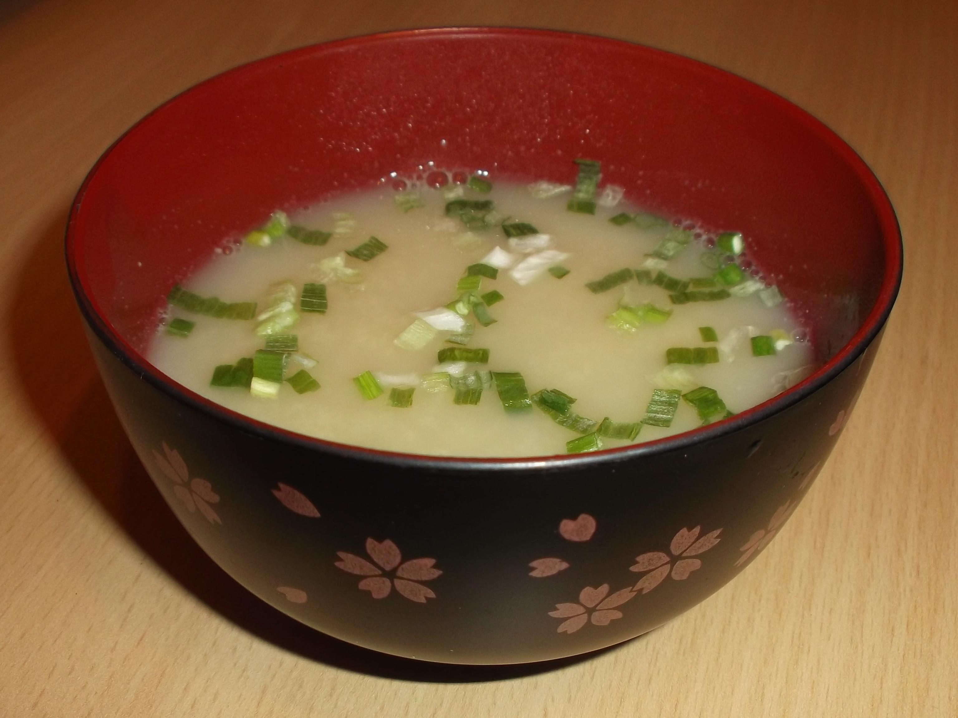 La soupe miso, un grand classique.